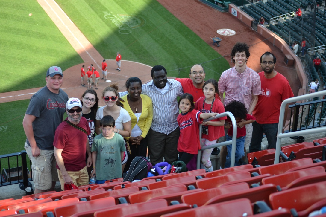 Lab at Cardinals game